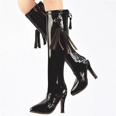 1:6 Black high-heeled flip flop Model For 1//6 Female PH TBLeagure Figure