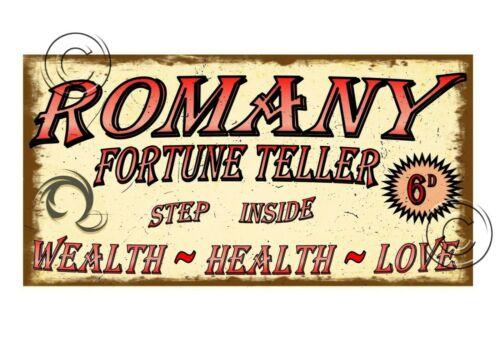 Fortune Teller Carnaval Style Vintage Signe Sideshow Signe Vintage forains SIGNE