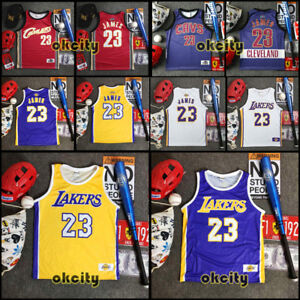 buy popular 7ec01 b3b35 Details about #23 LeBron James LBJ Los Angeles Lakers Jersey Men Child Baby  Singlet Vest
