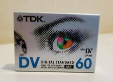 TDK Mini DV Digital standard 60 Min LP90 Video Cassette two 2 Pack