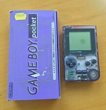 Used Nintendo Game Boy Pocket Clear Purple Handheld System (Japan)-Slightly Used
