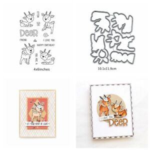 Little-Cute-Deer-Handcrafts-Cutting-Dies-amp-Stamp-Paper-Card-Making-Stencil-DIY