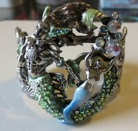 Kirks Folly Rip Tide Merman-mermaid Cuff Bracelet Lrg