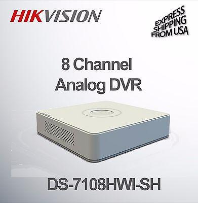 8 Channel Security Surveillance DVR  WD1 Analog Hikvision DS-7108HWI-SH