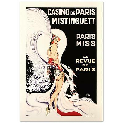 """""""Casino De Paris Mistenquette"""" Hand Pulled Lithograph by the RE Society"""