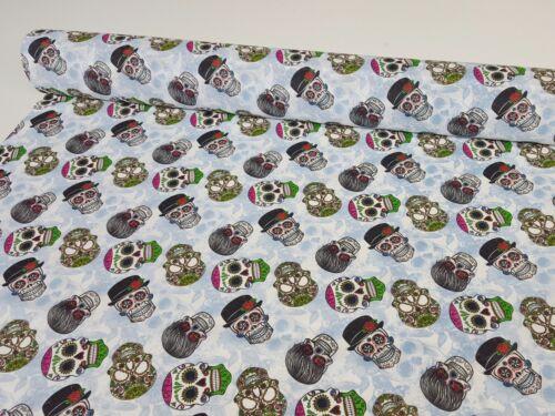Sustancias algodón panamabindung impresión digital decorativas patchwork Gardine calavera nr2