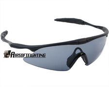 Airsoft Tactical Sporty UV400 Protection Police Shooting Glasses Black A