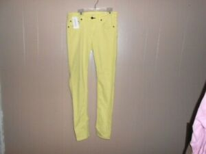44494fb1023 Details about Rag & Bone Women's 28 Skinny Jeans Canary Yellow Stretch Denim  Pants~EUC!