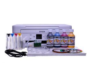 Non-Oem-Epson-XP-345-A4-Sublimation-Ink-Printer-Continuous-Ink-Kits-Bundle