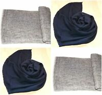 Pashmina Cashmere Shawl Scarf Wrap Wool Grey Solid Stole Soft New Women Classic