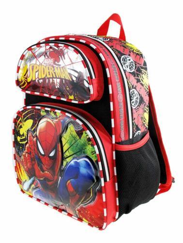 "Marvel Spiderman Spider-Man 16/"" Full Size Backpack Metal Web A15501"