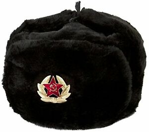 Russian-Soviet-Cossack-Trapper-Fur-Ushanka-Winter-size-61-62-SZ-XXL