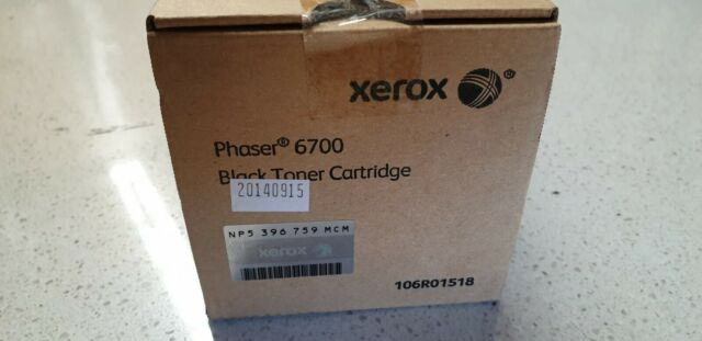 Genuine Xerox 106R01518 Black Toner for Phaser 6700 New Never Opened See Photos