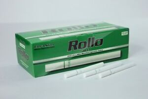 600 ROLLO MENTHOL GREEN ULTRA SLIM Tobacco Cigarette filter tubes Memphis venti