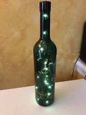 Lighted Eclipse Wine Decorative Glass Wine Bottle Desktop Lamp dark green