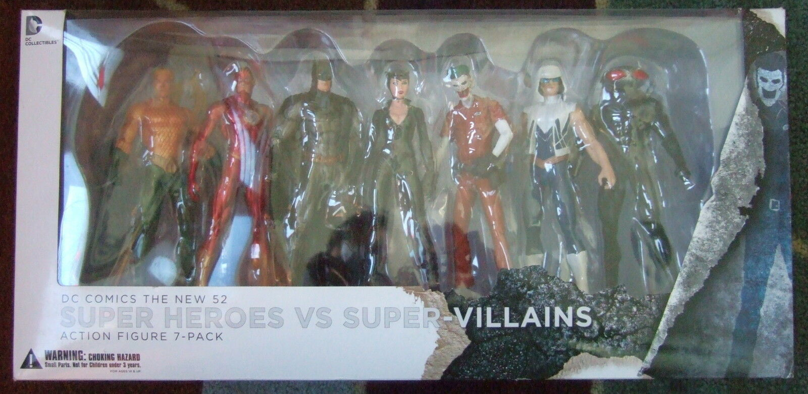 DC Collectibles New 52 SUPER HEROES VS. SUPER-VILLAINS Action Figure Set NEW 20