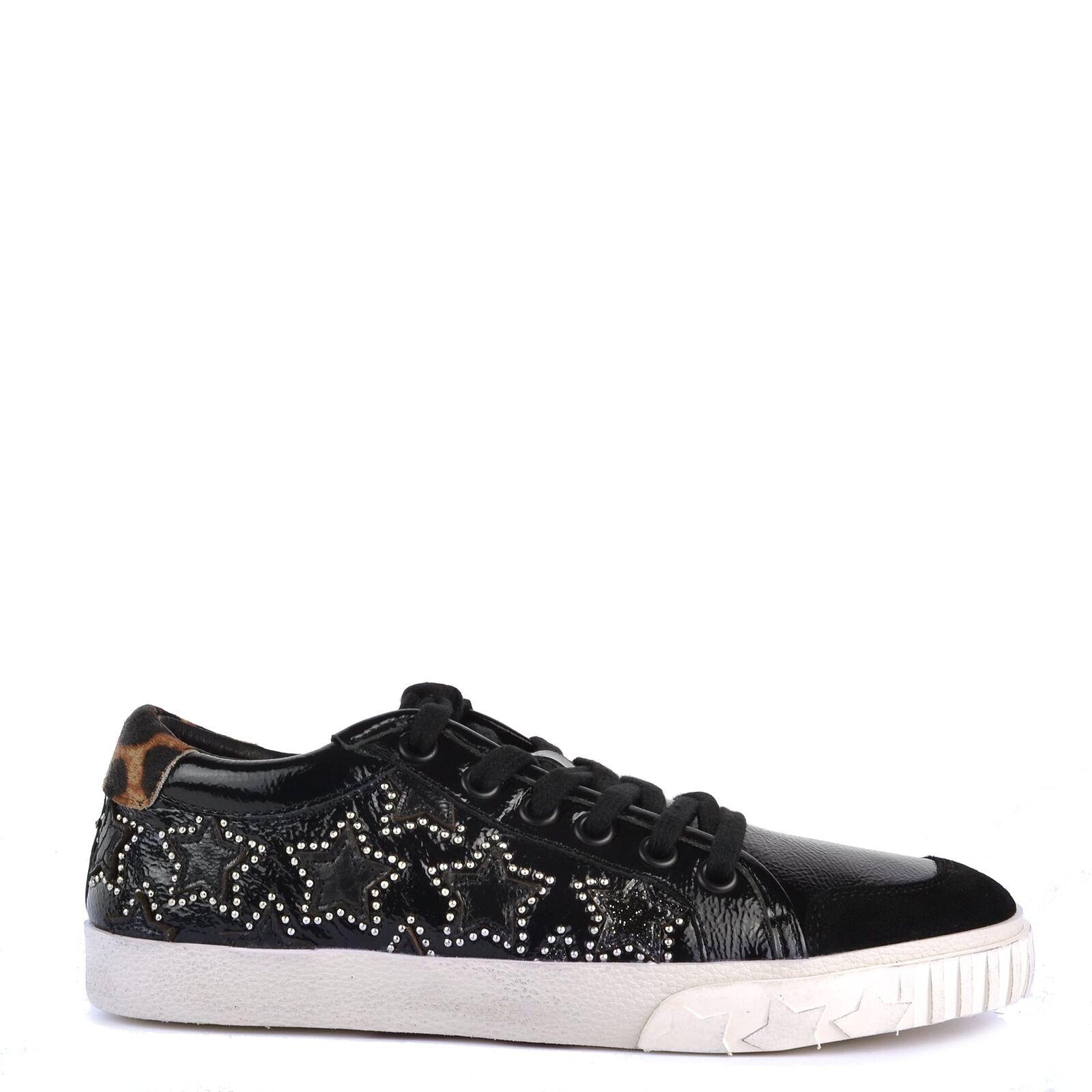 Ash Footwear Ash Schuhe Majestic Bis Turnschuhe Schwarz und Leopard Damen