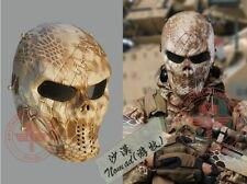 #06 Metal&Mesh Full Face Airsoft Skull Mask Outdoor Game Paintball BB CS