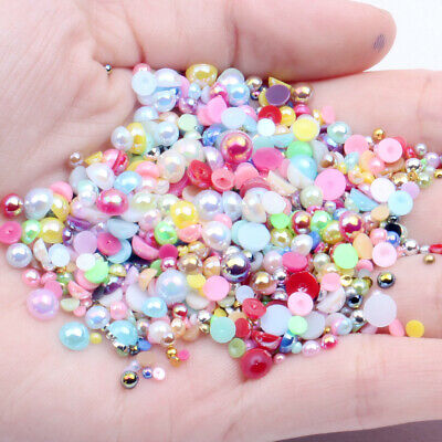 Acrylic Beads Pearl Imitation Half Round Flatback for DIY Crafts Jewelry Making