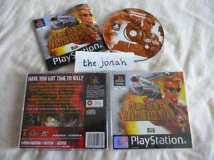 Duke-Nukem-Time-to-Kill-PS1-COMPLETE-black-label-Sony-PlayStation-rare