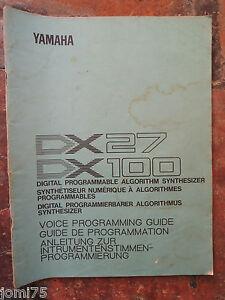 Original-YAMAHA-80-039-DX100-DX-27-voice-programming-guide-UK-English-DE-FR