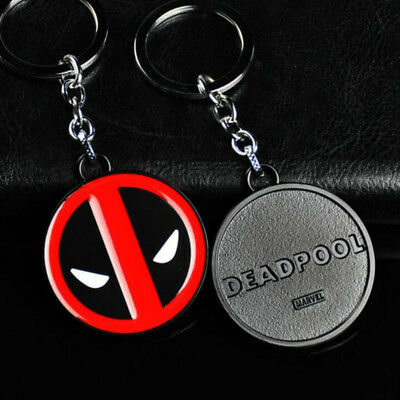 Metal Marvel Super Hero Deadpool KeyRing Keychain High Quality Keyfob Present