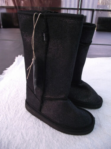 BNWT Little Girls Sz 11 Rivers Doghouse Brand Long Black /& Sparkle Slipper Boots