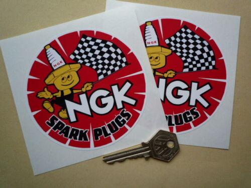 "NGK Spark Plugs 4/"" Round Sticker Honda Z600 Beat Toyota"