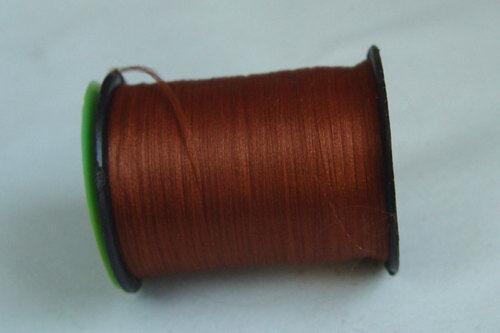 100m Fil PLAT montage MARRON CLAIR 6//0 fly tying dubbing mouche thread brown