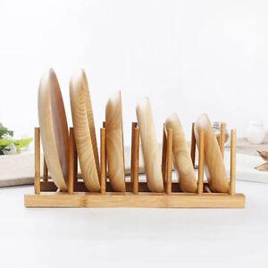 Wooden-Sink-Bowl-Plate-Dish-Drainer-Rack-Pot-Lid-Cover-Holder-Shelf-Rack-XG