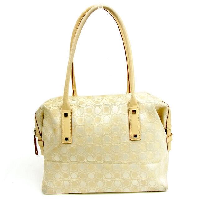 Salvatore Ferragamo Tote bag Ganchini Beige Woman Authentic Used Y6690 d4b814f69efef