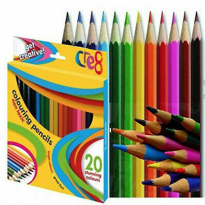 20 Colouring Pencils Colour Creative Kids Adult Color Artist Art Craft Fun Gift Ebay