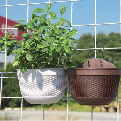 Wall Hanging Flower Pots Garden Fence Balcony Basket Plant Pot Planter Decor