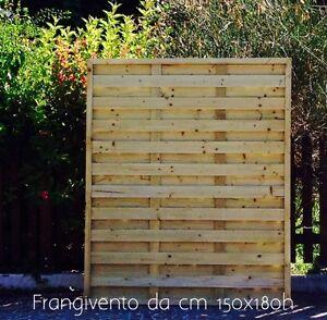 Frangivento in legno di pino impregnato in AUTOCLAVE da cm 120x180h ...