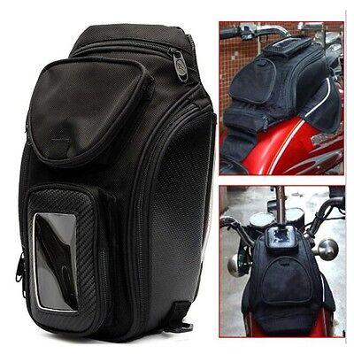 Black Small Magnetic Tank Bag Universal Motorcycle Motorbike Bike Luggage - NEW