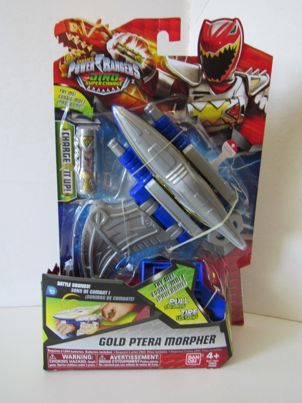 Power Rangers Dino Super Charge gold Ranger Ptera Morpher Battle Sounds Charge