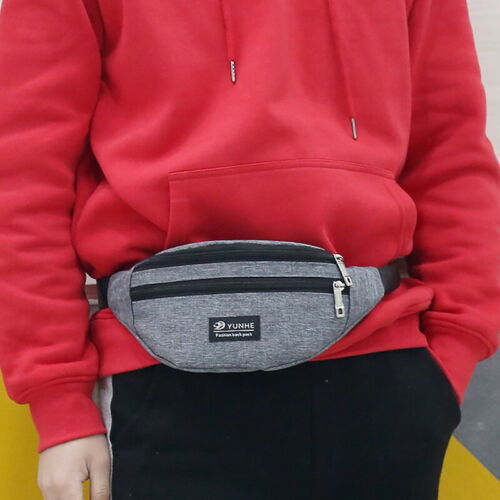 US STO Travel Fanny Pack Waist Bum Bag Outdoor Sport Shoulder Belt Wallet Pouch