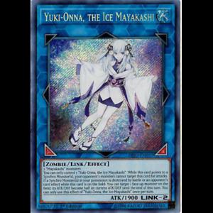 the Ice Mayakashi Yuki-Onna YGOMARKET.COM 1st Secret Rare HISU-EN037