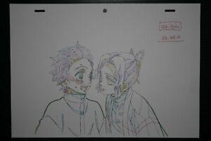 """JAPAN TV Animation Demon Slayer Kimetsu no Yaiba """"Tanjiro,Shinobu"""" Fukusei Genga"""