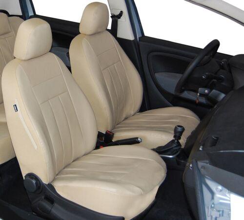 Maßgefertigte Vordersitzbezüge Autositzbezüge Kunstleder Beige für Audi A3 8L 8P