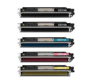 5-toner-XL-LaserJet-Pro-100-color-MFP-m175a-cp1025-ce310a-ce313a-126a-hq-PREMIUM