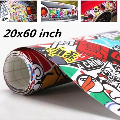 "Panda Cartoon Hellaflush Graffiti Bomb Vinyl Wrap Sheet Decal Sticker 20/"" X 60/"""