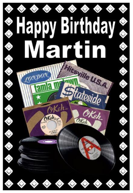 Northern Soul (Sellos Discográficos) - Happy Birthday Personalizado Tarjeta (