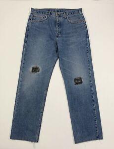 Levis-615-W36-tg-50-jeans-uomo-usato-vintage-gamba-dritta-denim-boyfriend-T5268