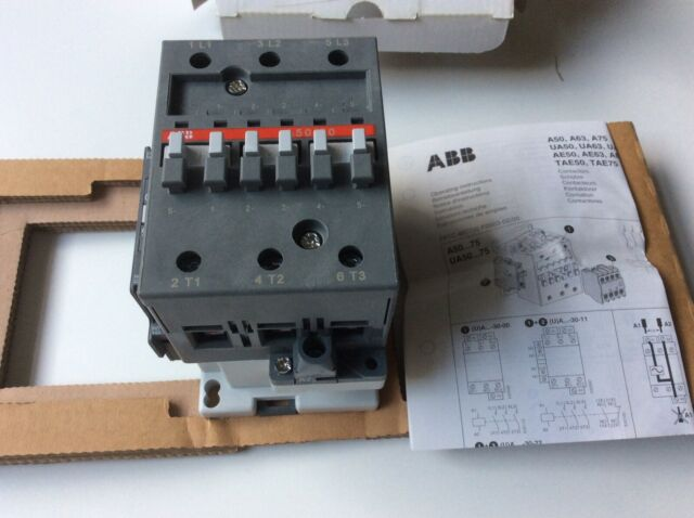 Genuine ABB 3-Pole Contactor A50-30-11 110v 100A  NEW UNUSED ITEM