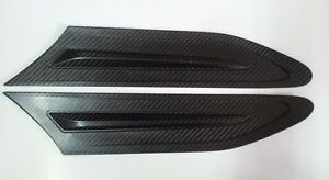 Carbon-Side-Vents-Grill-Grille-Fender-Air-Duct-flow-Cover-Trims-For-Subaru-BRZ