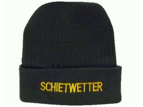 """Mütze /""""Schietwetter/"""" Schwarze Wintermütze ideal für Wind /& Wetter an der Küste"""