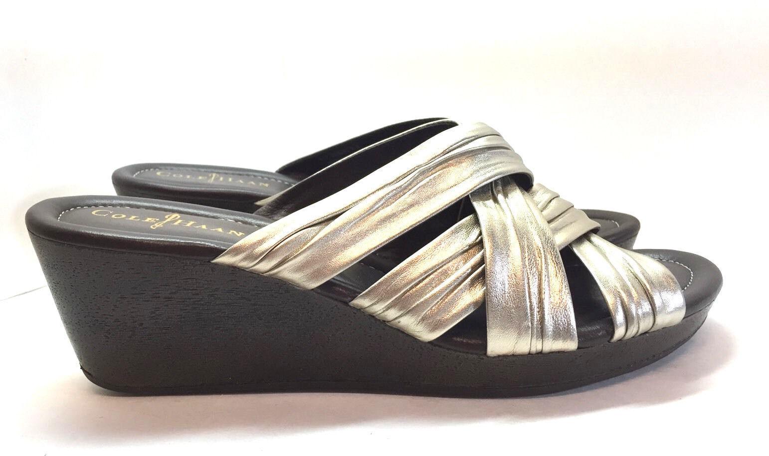 Cole Haan Damenschuhe Silver 9.5 Wedge Heels Schuhe Größe 9.5 Silver B 2666d3