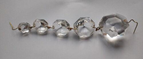 Repair 1 x Vintage Facet Cut Drop Spare Run BAG CHANDELIER Crystals