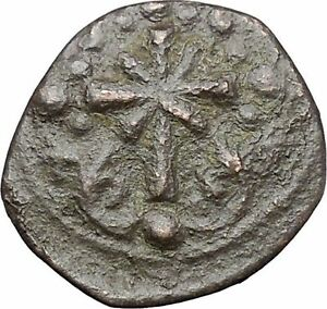 JESUS-CHRIST-Class-I-Anonymous-Ancient-1078AD-Byzantine-Follis-Coin-CROSS-i47448